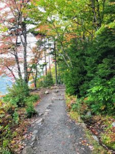 The trail is made of these well-groomed gravel paths.