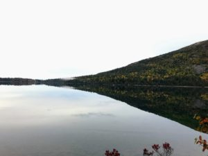 The pond is home to landlocked salmon and lake trout. Fishing is allowed, but boats with motors over 10-horsepower are prohibited.