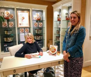 Here was the first in line - do you notice anything? Her denim jacket is embellished with faux pearls. I noticed them right away. It reminds me of the faux-pearl denim jacket in my new QVC apparel collection. Do you have a pair of my jeans yet? http://www.qvc.com/Martha-Stewart-Regular-Faux-Pearl-5-Pocket-Ankle-Jeans.product.A301069.html?sc=SRCH