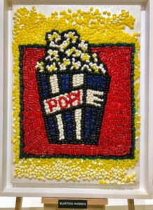 This popcorn candy mosaic came from pop artist Burton Morris.