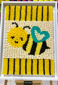 And actress Uzo Aduba submitted this bumble bee mosaic.