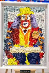 Actor and comedian, Eric Stonestreet, submitted this clown mosaic.