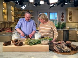 On this show, I'll also show you how to replace the usual ingredients with more wholesome substitutes. We'll make luscious rhubarb and raspberry rye crisps, flaky buttermilk barley biscuits, and a lofty spelt layer cake.