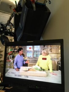 Here, you can see us during the show's taping. Jack shares his advice for making delicious polenta for breakfast.