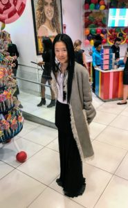 Fashion designer, Vera Wang, stopped by to admire all the candy art work.