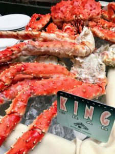 The red king crab, also called Kamchatka crab or Alaskan king crab, is a species of king crab native to the Bering Sea. The red king crab is the largest species of king crab and can reach a carapace width of up to 11-inches and a weight of 28-pounds.