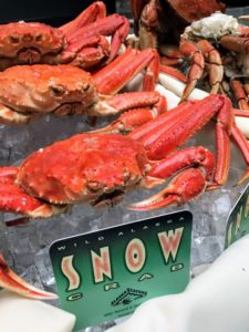 Snow crabs are also harvested in the Bering Sea. Bairdi Snow crabs are full of sweet, snow white meat. They make an excellent choice for a crab feast or dinner gathering.