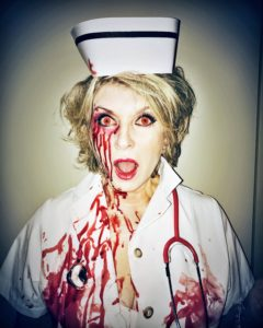 "This is my ""Bloody Park Avenue Nurse"" costume, inspired by the Richard Prince Nurses Series. (Photo by @thefacinator)"
