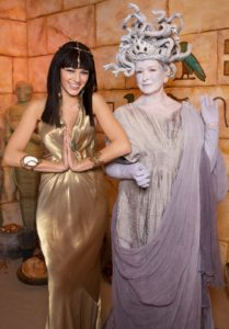 "This is a scene from the 2008 fourth annual Halloween celebration on ""The Martha Stewart Show"" in 2008. Blake Lively dressed as a beautiful Cleopatra and I as a frightful Medusa."