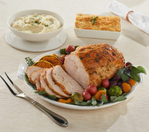 This special Thanksgiving dinner includes a ready-to-make meal with a four-pound turkey breast paired with two holiday side dishes. It's perfect for those smaller intimate gatherings of up to eight people.