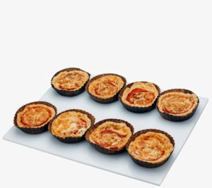 These tomato tarts are made out of an all-butter flaky crust and all 100-percent ingredients - ready for all your entertaining needs.