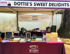 Another vendor was Dottie's Sweet Delights - home of handmade treats. Dottie's shop uses wholesome ingredients, including organic sugar, hormone-free dairy products, pure sea salt and pure vanilla, made in house from triple-distilled vodka and Madagascar vanilla beans. http://dottiessweetdelights.com/