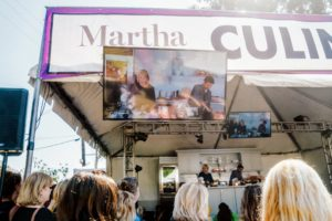 Large monitors were put up around the Culinary Stage, so all the VIP ticket holders could watch my demo and ask questions. (Photo taken by Brandon Bibbins)