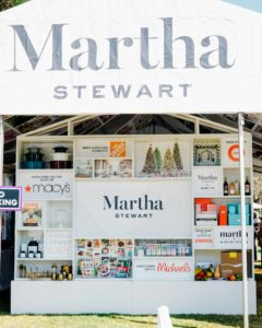 The first thing visitors saw when they entered our Martha Stewart Experience Pavilion was the Wall of Martha featuring all our partnering brands, including Macy's, The Home Depot, QVC, Martha Stewart Wine Co., Martha & Marley Spoon, and more. (Photo taken by Brandon Bibbins)