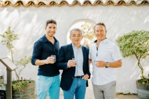 This is a nice snapshot of Zac Brandenberg, CEO of DRINKS, who works with us on Martha Stewart Wine Co., Bruno Lafon, esteemed winemaker who produces the Racine Rosé, and Chris Hoel, an expert advisor for DRINKS and former sommelier from the renowned restaurant, The French Laundry. (Photo taken by Brandon Bibbins)