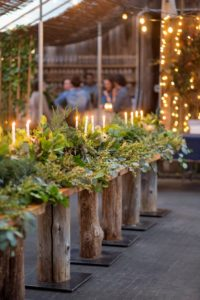 "The event was held in Terrain's ""green house"" - the entire space was wonderfully decorated for the holidays. (Photo by Katie Hennessey)"