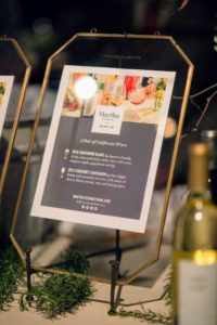 We also served two wines from the Martha Stewart Wine Co. They included a Spencer Family Sauvignon Blanc, and a Free Flight Cabernet. (Photo by Katie Hennessey) http://marthastewartwine.com