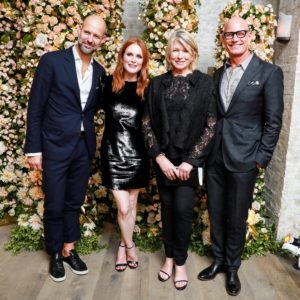 """I had a lot of fun at the """"Legends"""" Dinner honoring actress, Julianne Moore. Julianne has been on both my television and radio shows. Here I am with Chris Mitchell, Julianne, and John Hardy CEO, Robert Hanson. (Photo by Neil Rasmus for BFA)"""