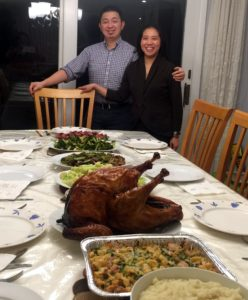Senior director of desktop services, Angus Chen, and his wife, Natalie, hosted their Thanksgiving this year - what a huge spread!