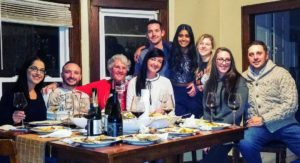 """And this is from Cheryl Dulong, who also works up at Skylands. She spent the holiday with her son, Torrey Grant, and his girlfriend, Michaela Sattaur - they hosted a """"Friendsgiving"""" in Syracuse."""