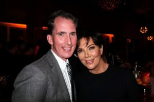 Here's a nice photo of Kevin Sharkey with Kris Jenner.
