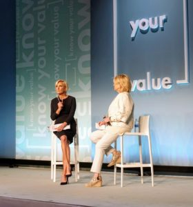 """And, here I am being interviewed by Mika Brzezinski during """"Know Your Value"""". We talked about building a business as a woman."""