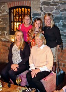Here I am with Maureen and members of her family who traveled from Long Island, New York to attend the shower. This photo was taken in one of the lounge areas at The Inn. The Inn is such a charming restaurant. If you're ever in the area, I highly recommend a visit.