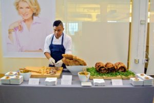 On tomorrow's show, I will share my delicious Herbed Porchetta. Here it is at our wonderful launch party last September - everyone loved it.