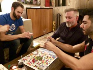 After the big feast, they all played a fun board game - remember Candy Land?