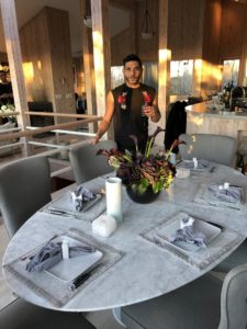 Here is Wissam and the lovely table setting Matthew set.