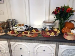 """""""My sister from Houston did all of the cooking - a traditional turkey served with our Texas family recipe, a three generation family stuffing recipe, a cranberry jalapeno crème cheese dip, and other goodies!"""""""
