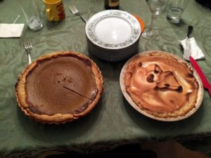 """Sequential Brands Group General Counsel, Eric Gul, shares this photo. """"My mother-in-law's homemade pumpkin pie and lemon meringue pie. Both were made from scratch and so delicious!"""""""
