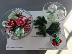 "The smallest ornaments on the right are ""jingle bells"" and can easily be fastened with wire and hung on the branches of the tree or a garland."