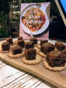 Dessert bites included Sticky Toffee Pudding, a cake-like pudding with a wonderful, deep flavor - perfect with a dollop of rich toffee sauce.