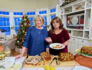 And look who it is - actress Valerie Bertinelli. She was at QVC sharing her own collections, but stopped by our set to say hello and to try the porchetta. She ordered one for her family right away.