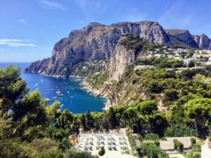 Capri is an island located in the Tyrrhenian Sea off the Sorrentine Peninsula, on the south side of the Gulf of Naples in the Campania region of Italy.