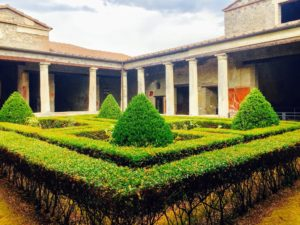 While touring Pompei, Ryan and his friends walked through this garden. It is located in the back of a noble's house. You could see all the rooms from this courtyard.