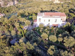 Here is a view of the villa taken with a drone.