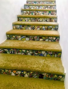 Here is one of the staircases decorated with local tile mosaics - such pretty details.