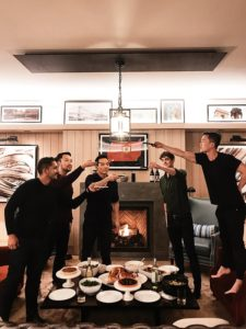 """""""Another friend, Carlos, cooked the turkey and brought it to the party all the way from his apartment in Hell's Kitchen. Nobody touched the food until we all got a good Instagram shot."""""""
