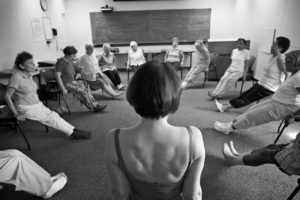 This is one of the many wellness classes offered at the Center.