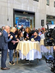 "And, here we are with the newlywed couples - it was a very chilly morning at The Today Show, but everyone enjoyed sampling our two dishes from the book. This couple asked me ""what I would eat if calories didn't matter"" - you'll have to watch the segment to hear my response."