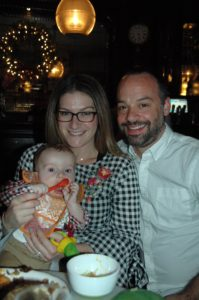One of my publicists from Magrino, Mary Ogushwitz, enjoyed her holiday with her husband, Adam, and their six-month old son, Jack.