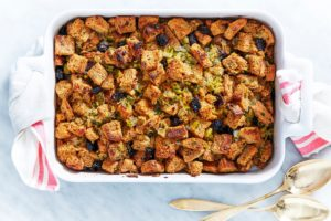 Here's my Classic Stuffing with Herbs and Dried Cherries – it can be served inside or outside the turkey. It's a big favorite at my table - I know it will be a popular dish at your celebration too!