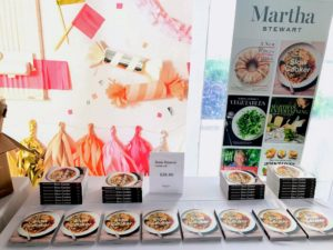 "Inside the tent, copies of my 89th book, ""Slow Cooker"" were available for purchase. https://www.amazon.com/Books-Martha-Stewart/s?ie=UTF8&page=1&rh=n%3A283155%2Cp_27%3AMartha%20Stewart"