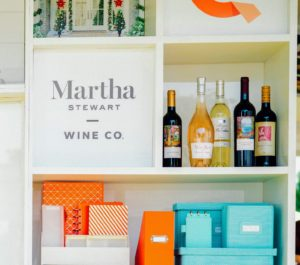 Our wall also shows samples from our Martha Stewart Wine Co. http://marthastewartwine.com