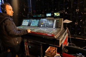 There is a lot that happens behind the scenes of a television show - there are several technicians controlling light and sound, so everything looks and sounds its best for viewers.