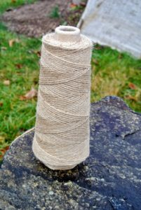 As with all the burlap projects on the farm, everything is sewn together with jute twine.