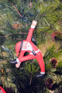 Here is another yoga Santa - everyone loved these ornaments.