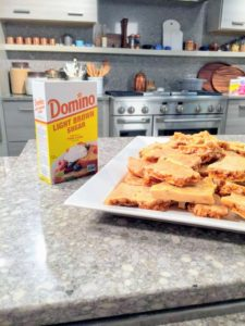 For my peanut brittle, of course we used Domino's pure cane sugar. The recipe for our nut brittle is on the web site at https://www.marthastewart.com/344574/nut-brittle